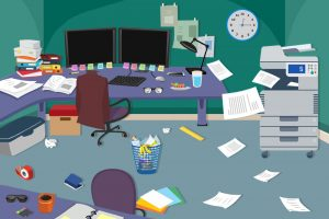 how to declutter your workspace to reduce stress